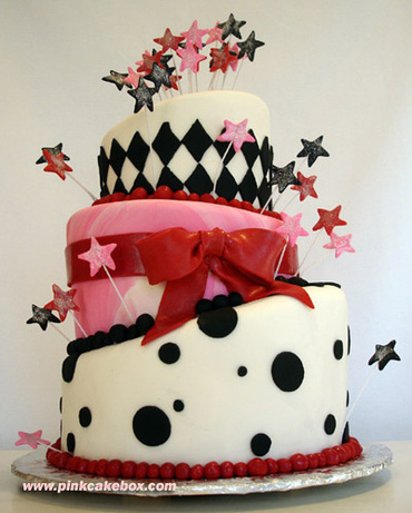 ¡ Me he vuelto roja ¡ Pinkcakebox_birthday_cake