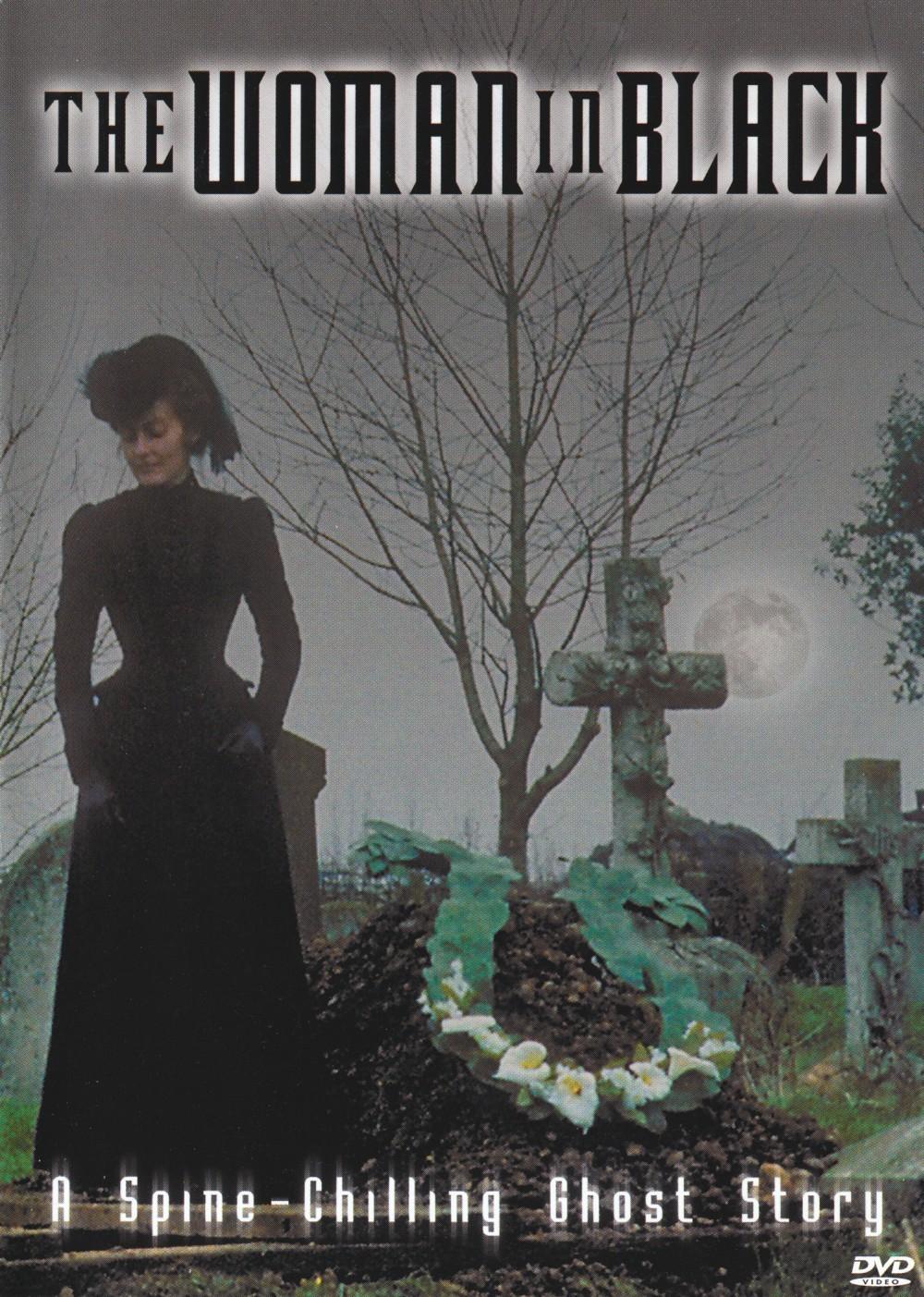 Woman in black film.